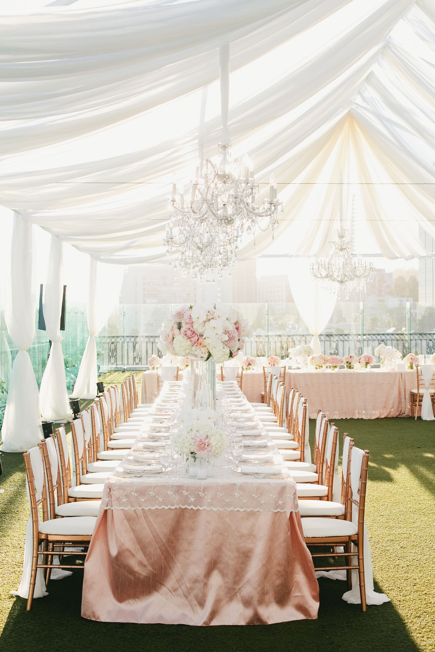 28 Tent Decorating Ideas That Will Upgrade Your Wedding Reception Pink And Gold Wedding Wedding Tent Decorations Tent Decorations
