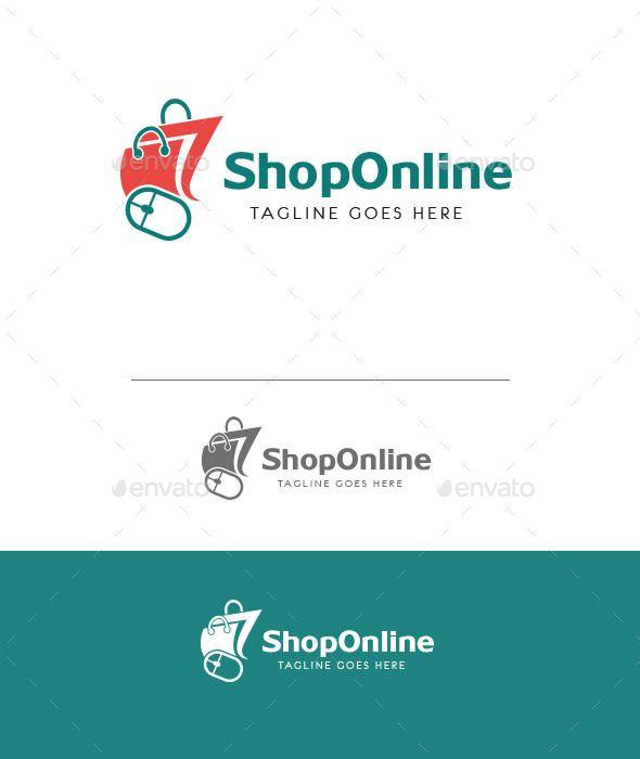 Online Shop Logo | Shop logo, Logos and Logo templates