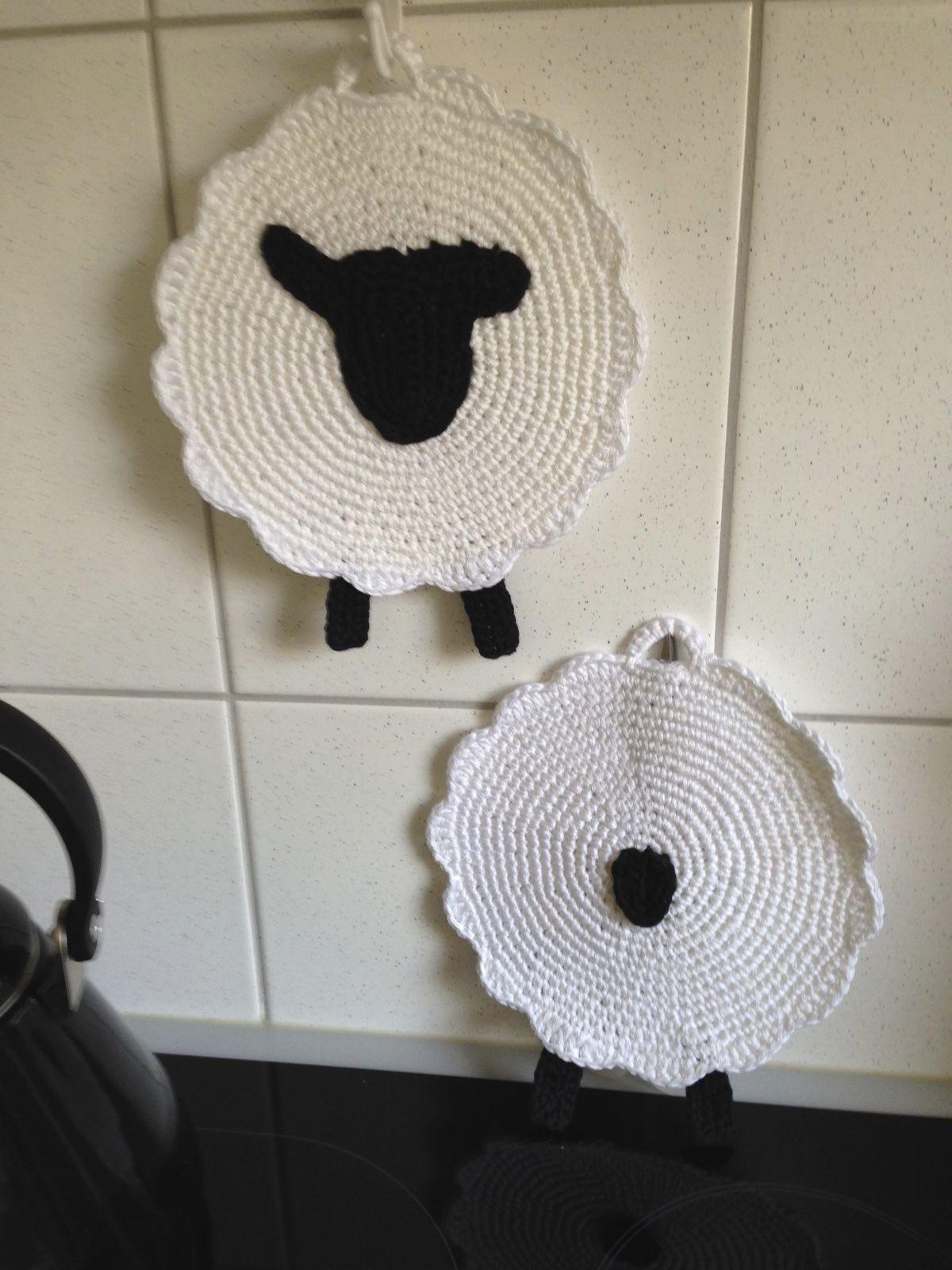 Photo of Topflappen ….. Schafe #crochetpotholderpatterns Topflappen ….. Schafe