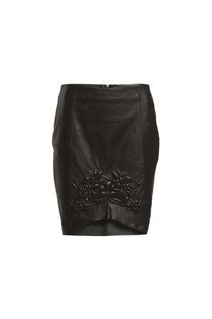 Selected Bluma leather mw skirt f