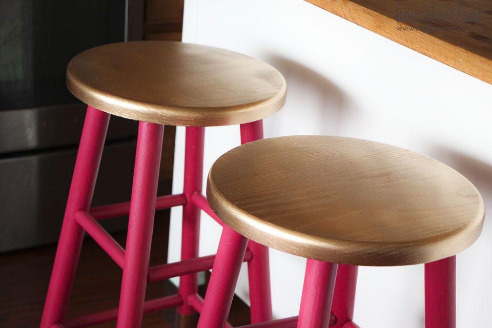 Gold Dipped Bar Stools Colorful Bar Stools Wooden Bar Stools Bar Stool Furniture