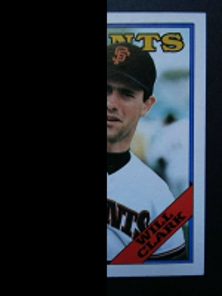1988 Topps 350 Will Clark San Francisco Giants Baseball Card