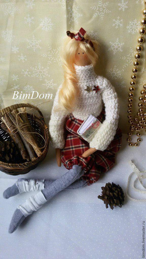 Купить Кукла в стиле Тильда в свитере - разноцветный, кукла ручной работы, в стиле тильда