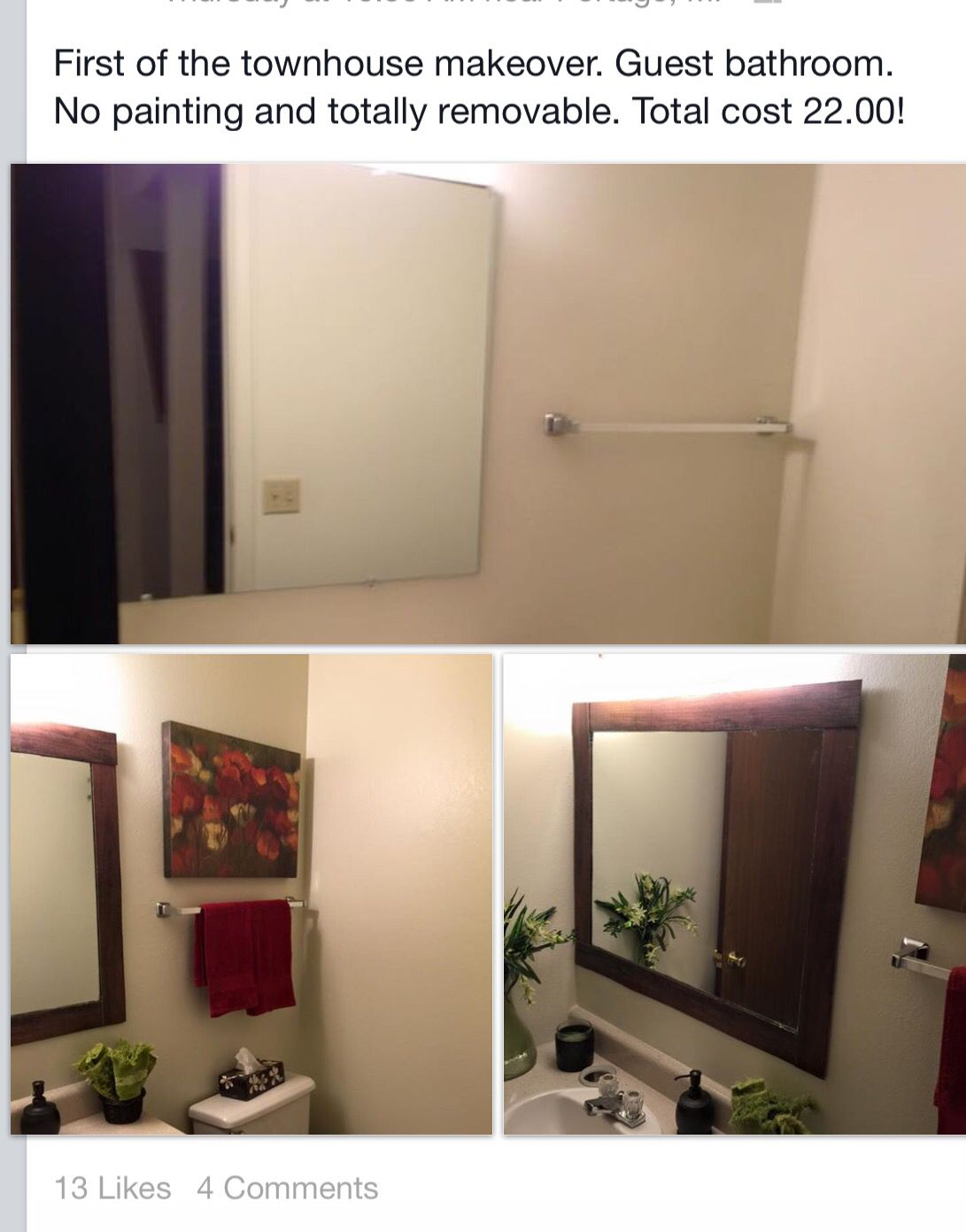 Ugly Apartment Balcony: Ugly Apartment Bathroom Temporary Decor Makeover. Two