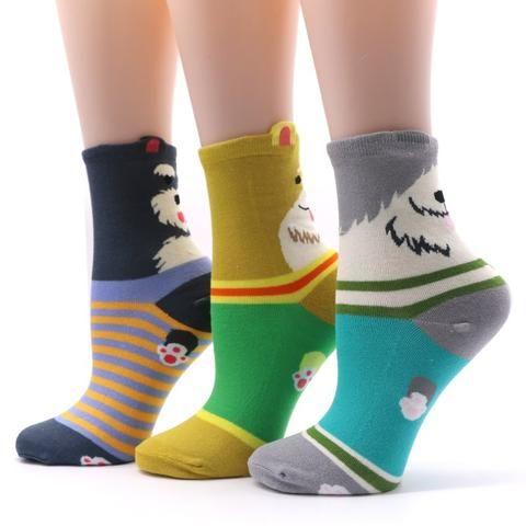 1pair Cotton Breathable Funny Socks Men Causal Short Socks With Print Man Chaussette Homme Mens Dress Art Socks Novelty Underwear & Sleepwears