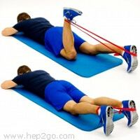 Theraband is a great tool to use with hamstring strengthening exercises #strengtheningexercises
