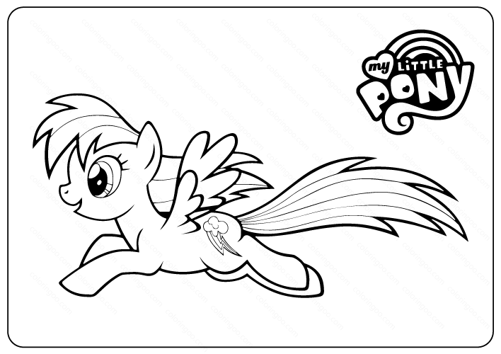 My Little Pony Coloring Pages Rainbow Dash Ausmalen Ausmalbild Kinder