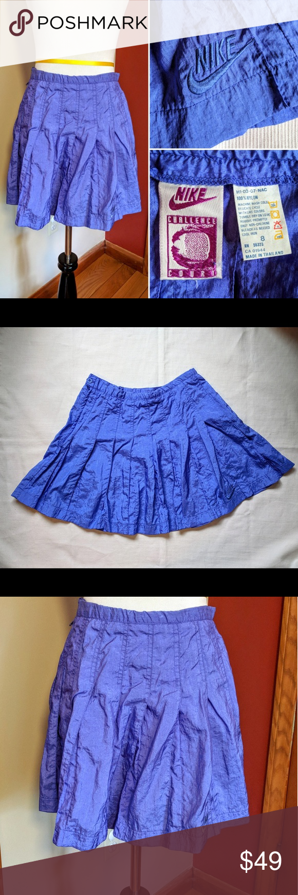 Vintage Nike 80s 90s Challenge Court Tennis Skirt Tennis Skirt Vintage Nike Clothes Design