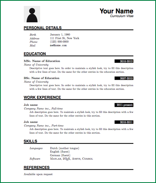 Pattern Of Resume Format Resume Format Resume Pdf Basic Resume Resume Format Download