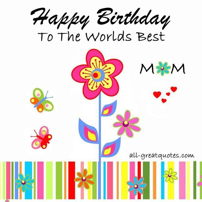 Free Birthday Cards Birthday For Mom Mommy – Happy Birthday Mom Cards