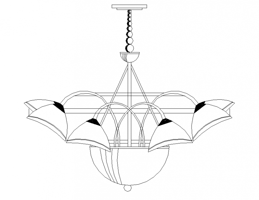 Ceiling Light Detail Elevation 2d View Autocad File Ceiling Lights Light Fittings Recessed Ceiling Lights
