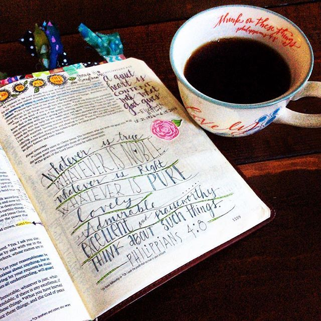 A bit dark this morning, but His Word gives me light for this new day! The cup was a gift from a recent bible journaling workshop. #journalingbible #illustratedfaith #mary&martha #faith