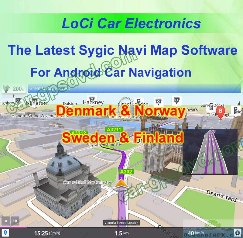 Sygic car navigation apk cracked maps for Europe Denmark