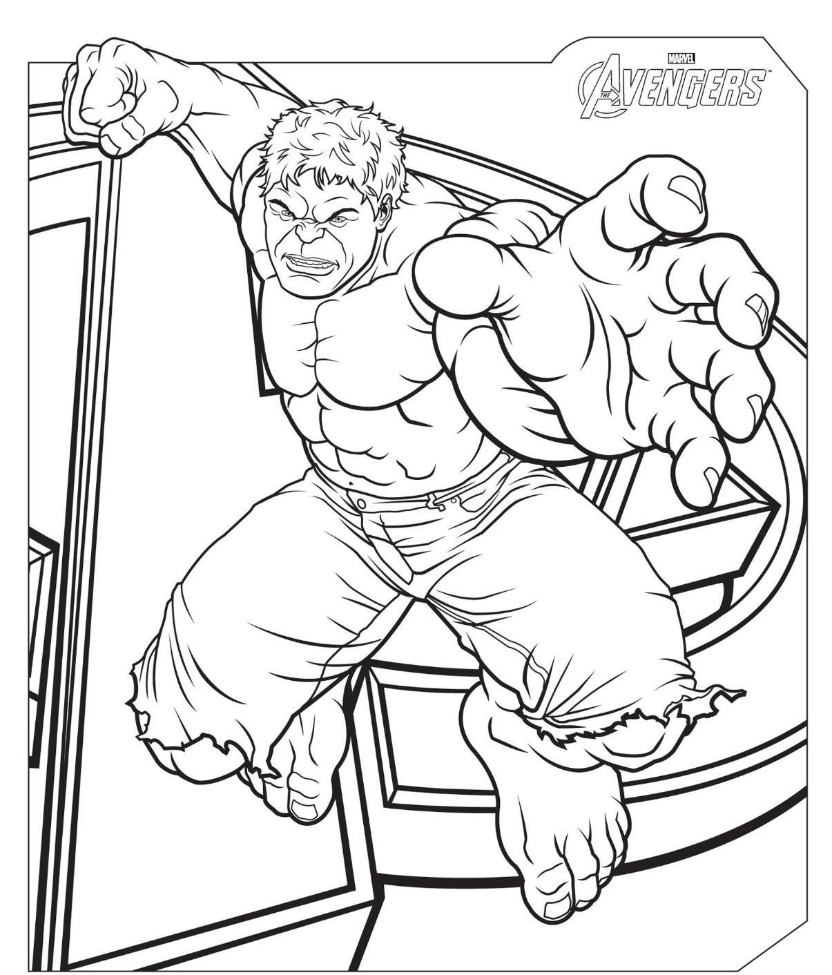 Incredible hulk coloring book pages - The Avengers Hulk Coloring Pages Super Heroes Coloring Pages Of