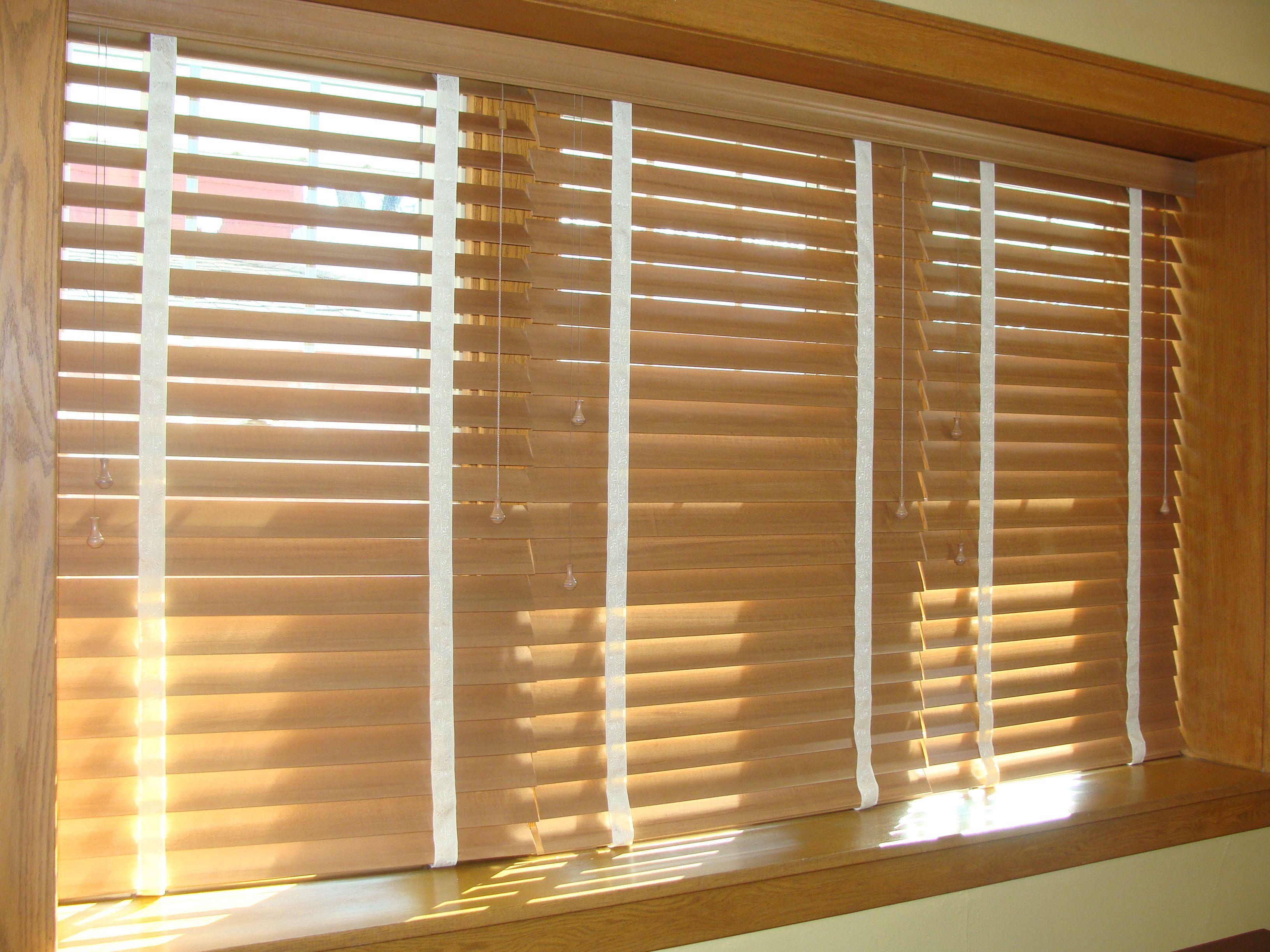 Hunter douglas wood blinds adds character plus functional window