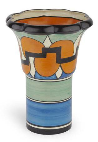 Clarice Cliff Castellated Circles Archaic Vase Shape 374 Circa