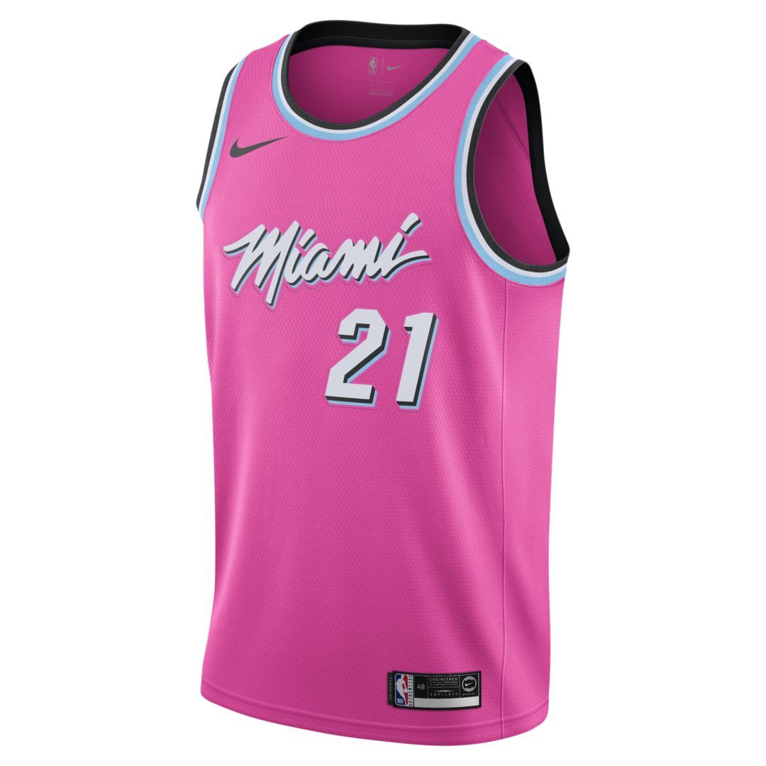 6ca9aa091 Hassan Whiteside Earned City Edition Swingman (Miami Heat) Men s Nike NBA  Connected Jersey Size S (Laser Fuchsia)
