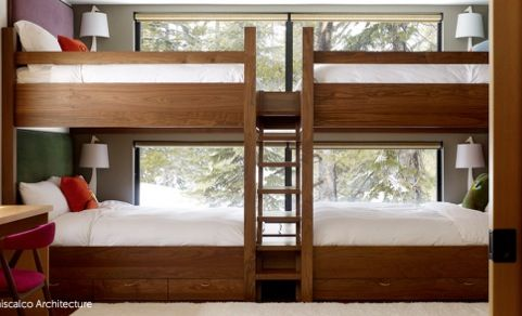 4 Person Bunk Bed Score Bunk Beds Built In Bunk Beds Cool