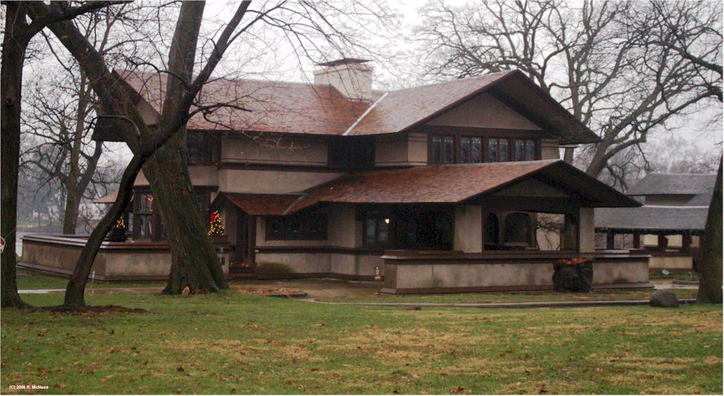 Frank Lloyd Wright Prairie Style hickox house. kankakee, illinois. 1900. prairie style. frank lloyd
