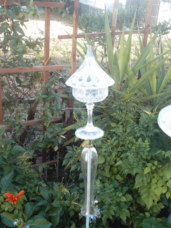 glass garden towers!!! Yard sale finds - Keneset - Goodwill - Flea ...