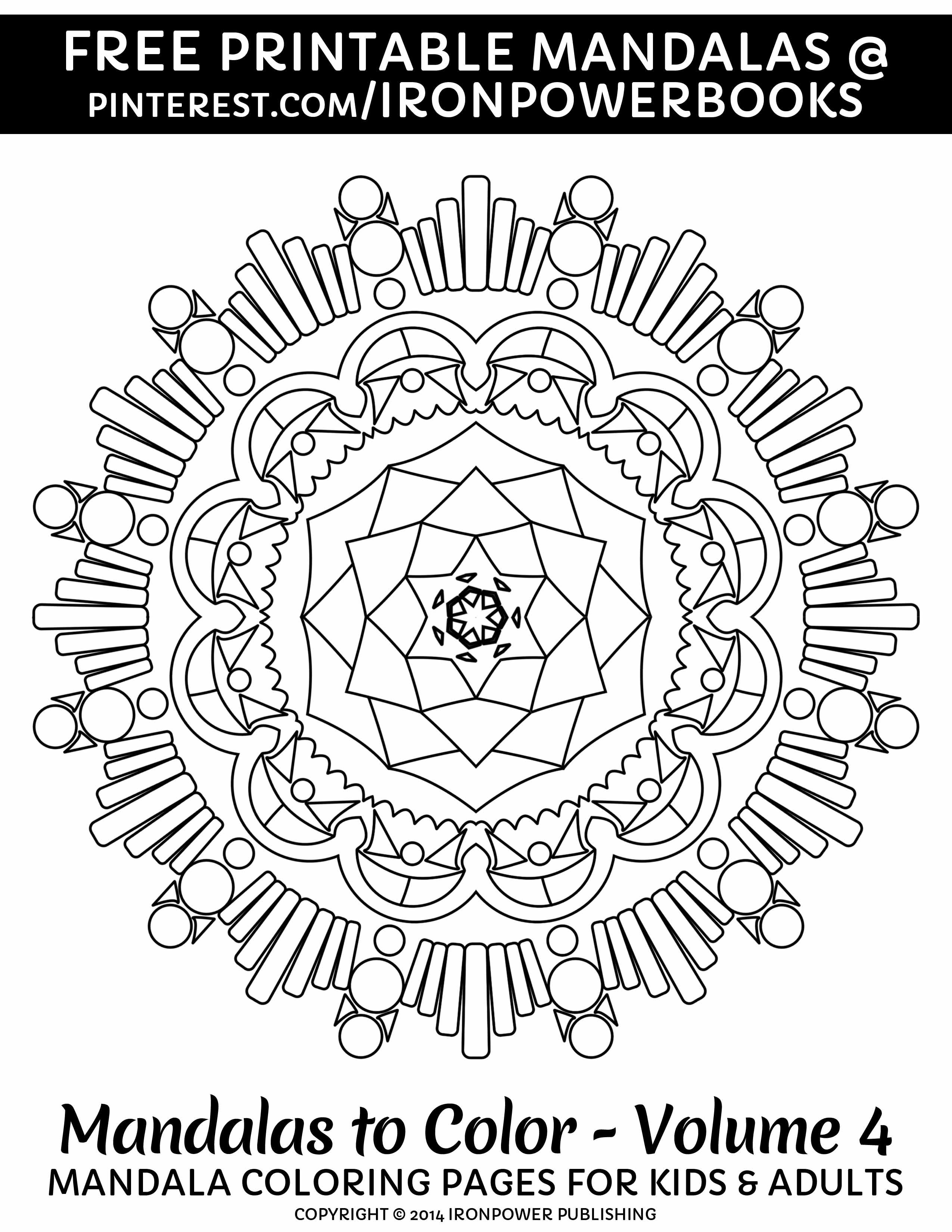 Art Therapy with this FREE Printable Mandala Coloring Page from