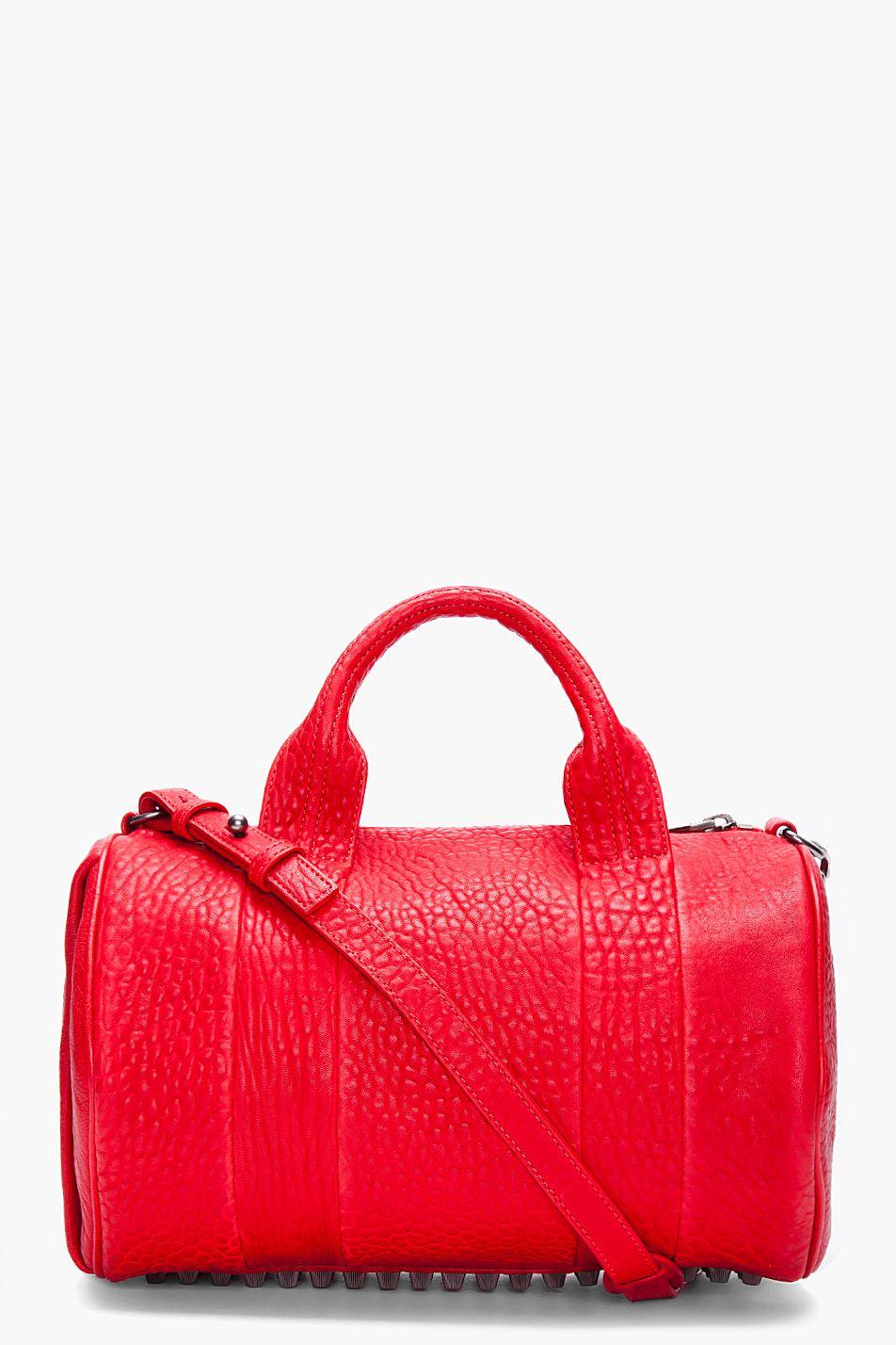 5ca255b3eca38 Alexander Wang Red Rococo Mini Duffle Bag   Bags! Bags! Bags ...