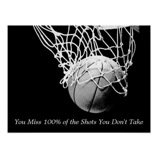 Black White Motivational Quote Basketball Poster Basketball Posters Poster Prints Black And White