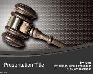 Free Judge Powerpoint Template For Justice Presentations And