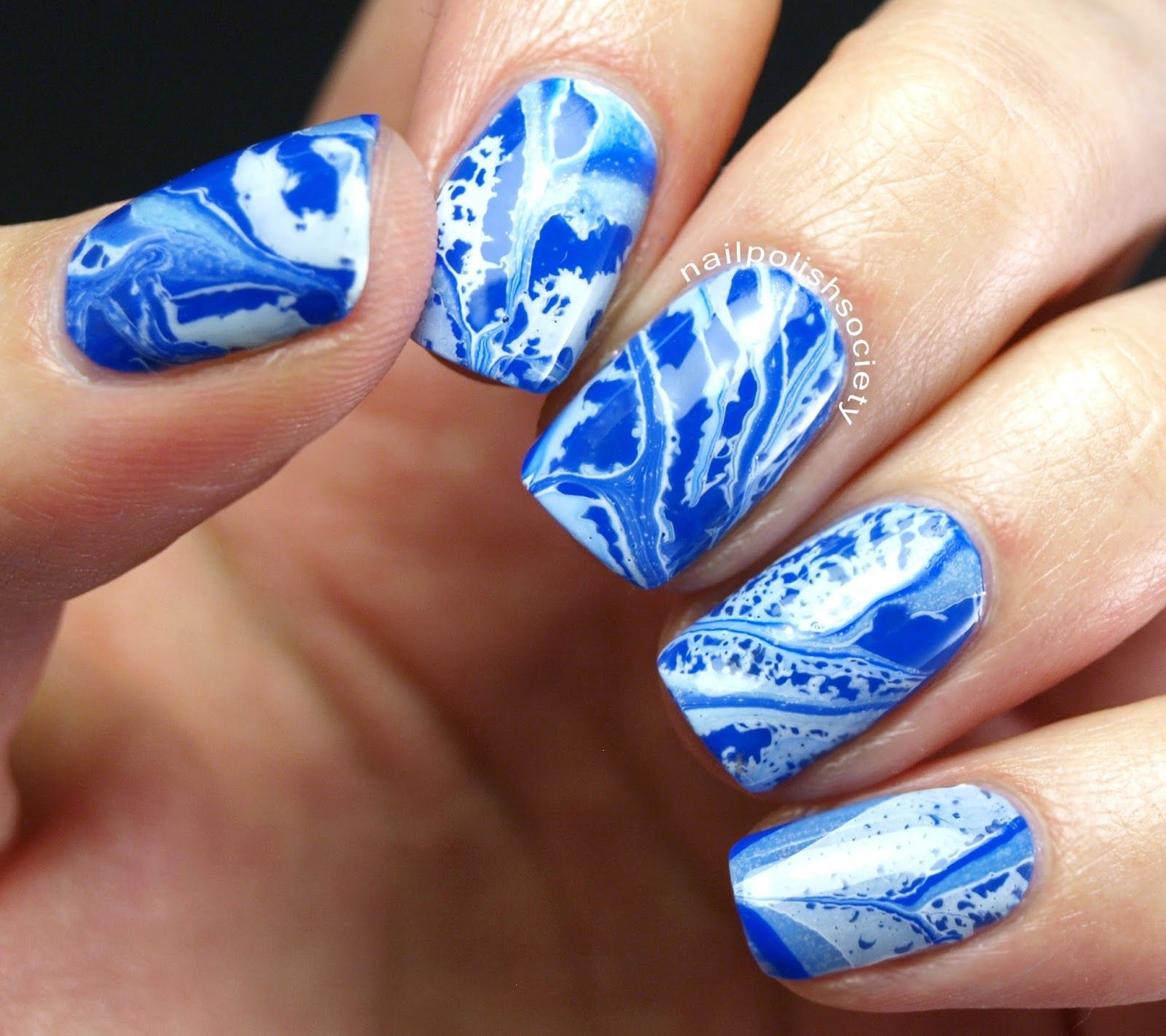 Tutorial: Distressed Water Marble | Water marble nails, Marble nails ...