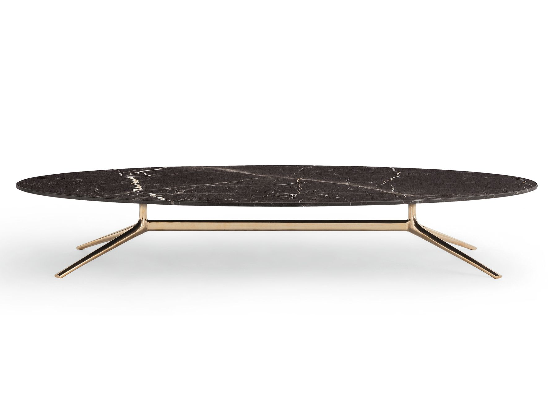stunning black industrial oval marble coffee table design
