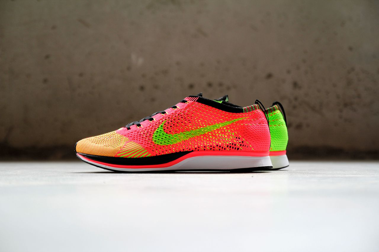 19ef78532c7e ... reduced nikes popular flyknit racer running shoe is set to release in  this colorful palette of