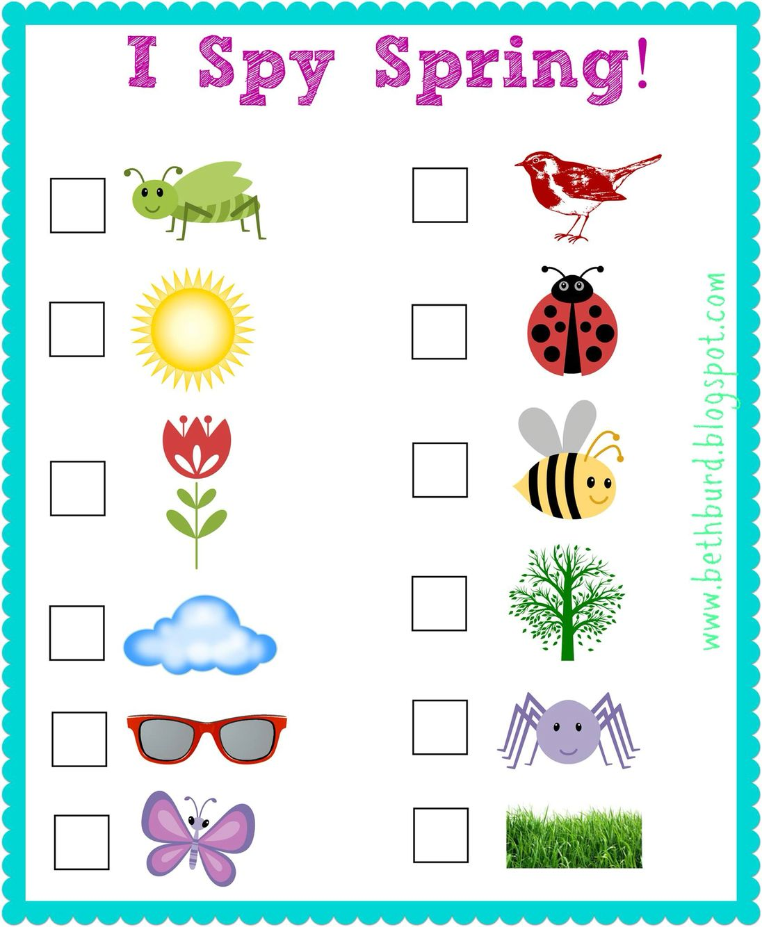 Free Spring I Spy Outdoor Printable Perfect For Those Fun