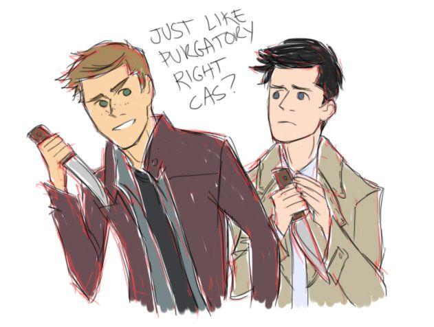 Dean and castiel fan art