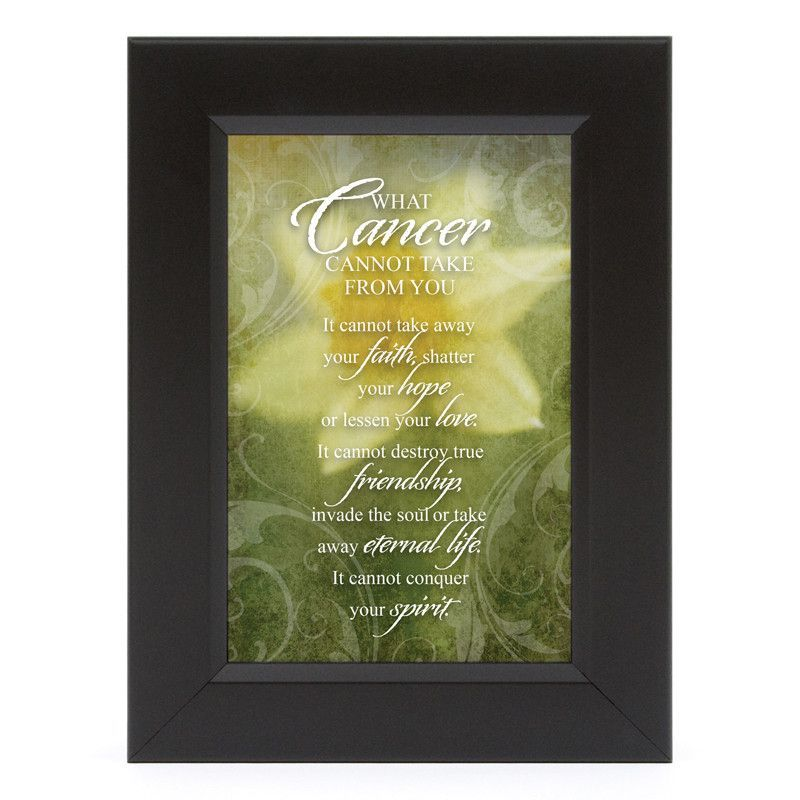 James Lawrence 7153 What Cancer-Daffodil Shadow Box Framed Wall Art