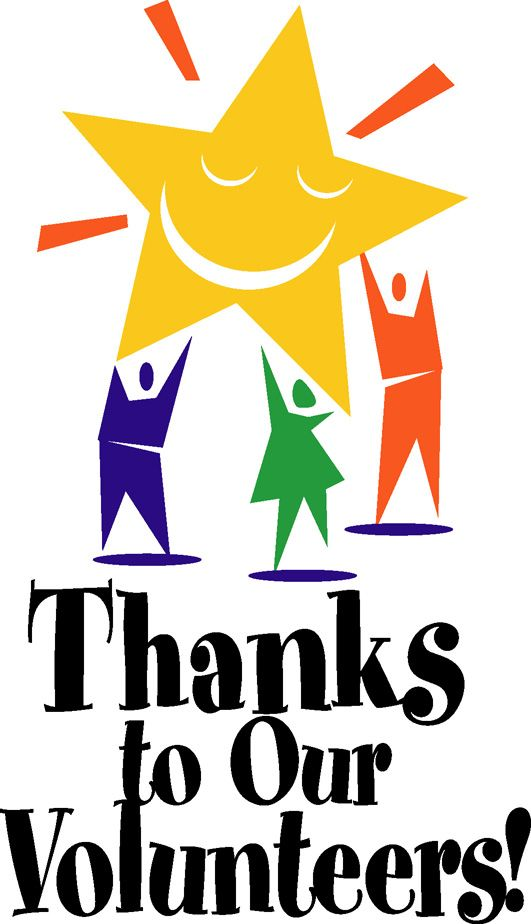 Image result for thank you volunteer clipart