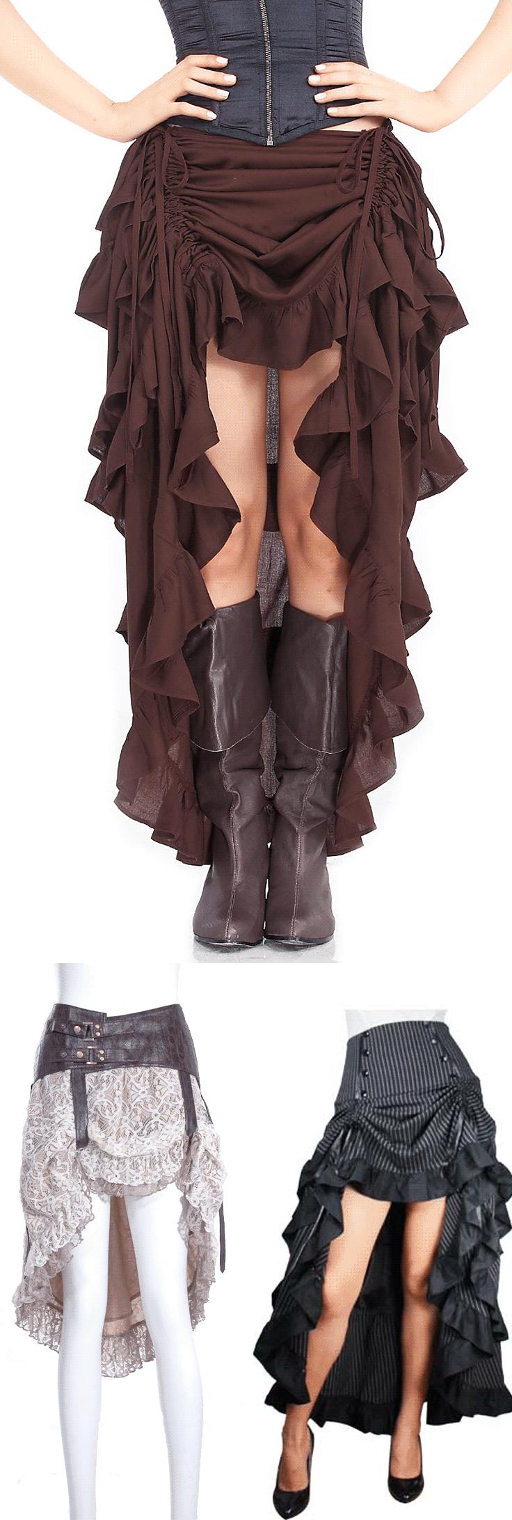 Shop goth steampunk skirts at RebelsMarket. | Steampunk & Victorian ...