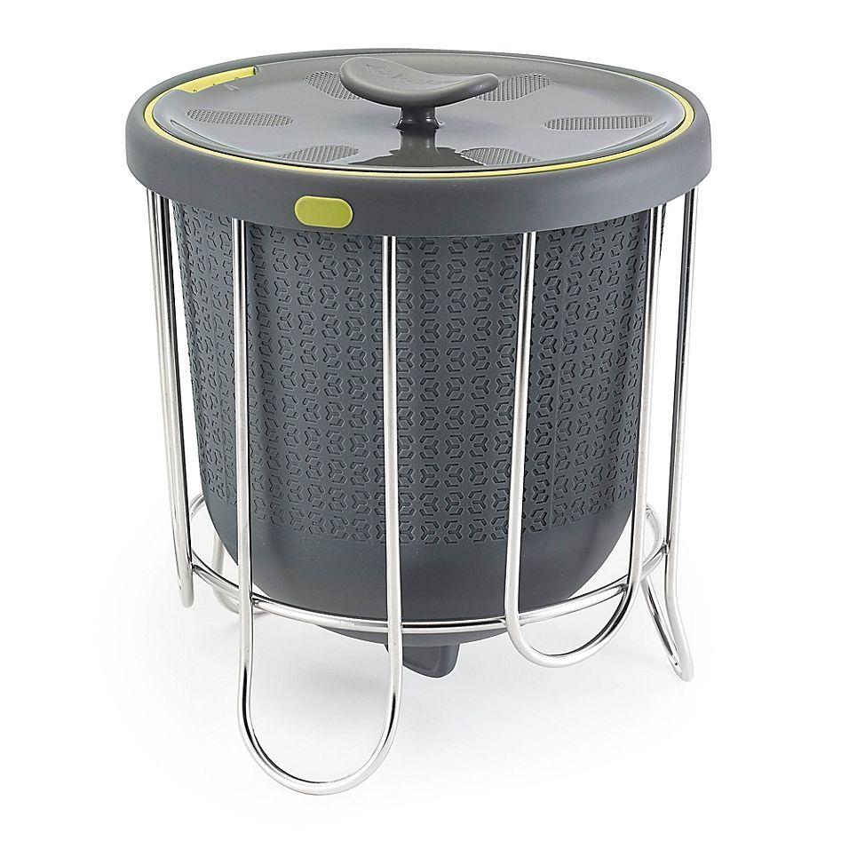 Polder 1 Gallon Kitchen Compost Bucket In Grey Kitchen Compost Bin Compost Bucket Grey Kitchen Accessories