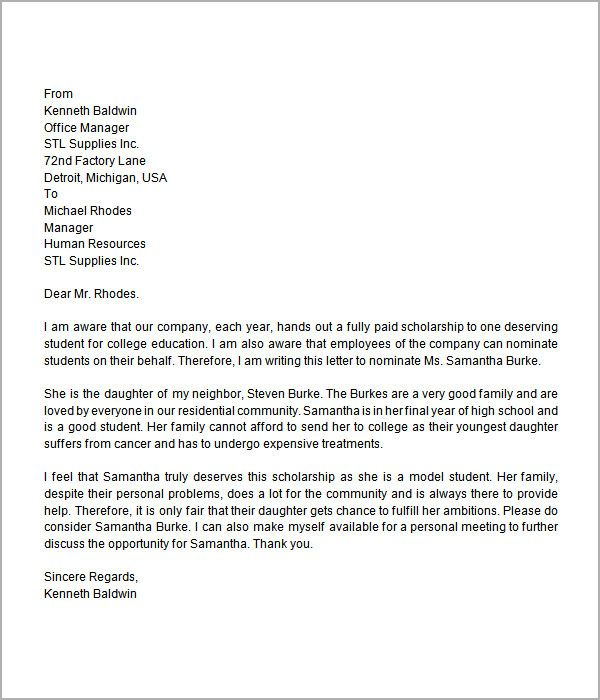 High school assistant principal cover letter High School - letter of recommendation for a student