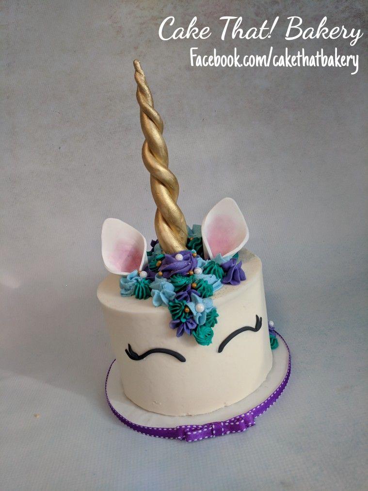 Blue Teal And Purple Unicorn Cake
