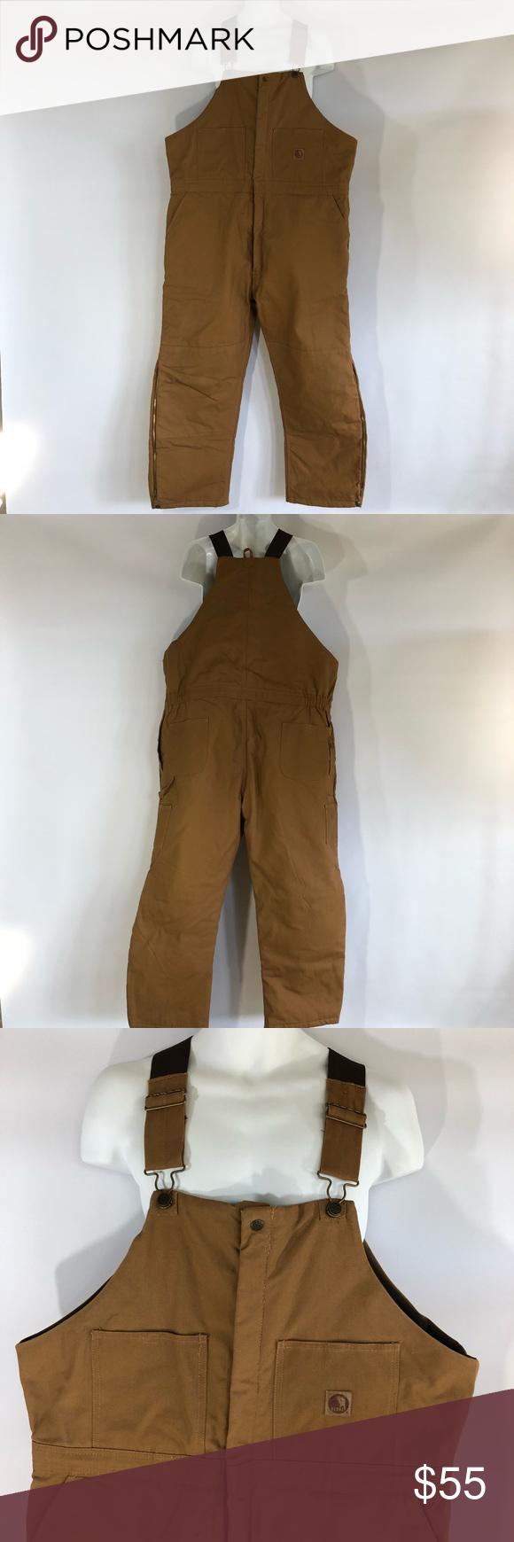 berne men s 2xls brown insulated work overalls berne mens on insulated work overalls id=58994