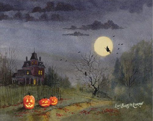 "as-quatr0-estacoes: "" Haunted Halloween Art Prints of Lewis ..."