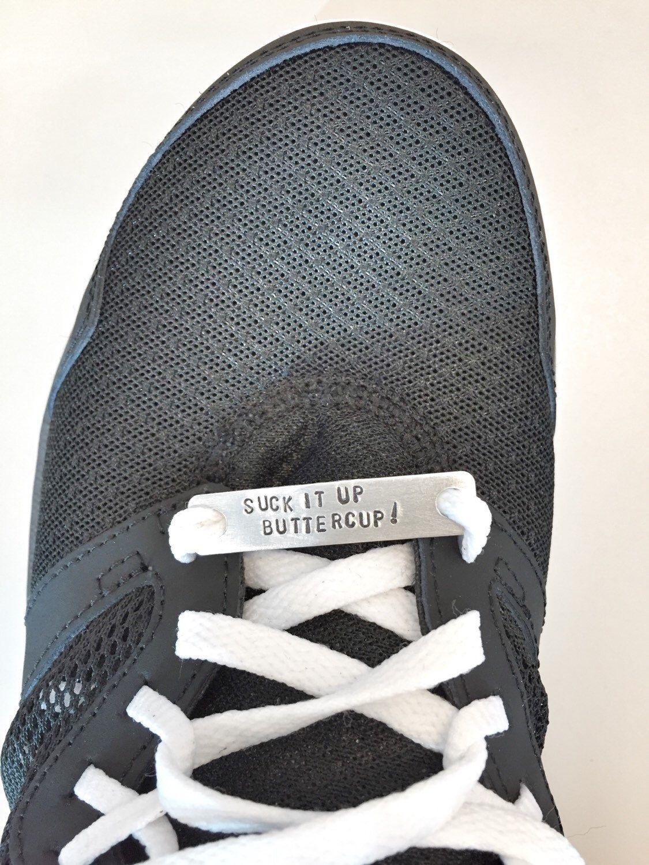 Shoe charms - shoe bling - marathon runner running shoe charm by HandToHeartJewelry on Etsy https://www.etsy.com/ca/listing/245294864/shoe-charms-shoe-bling-marathon-runner