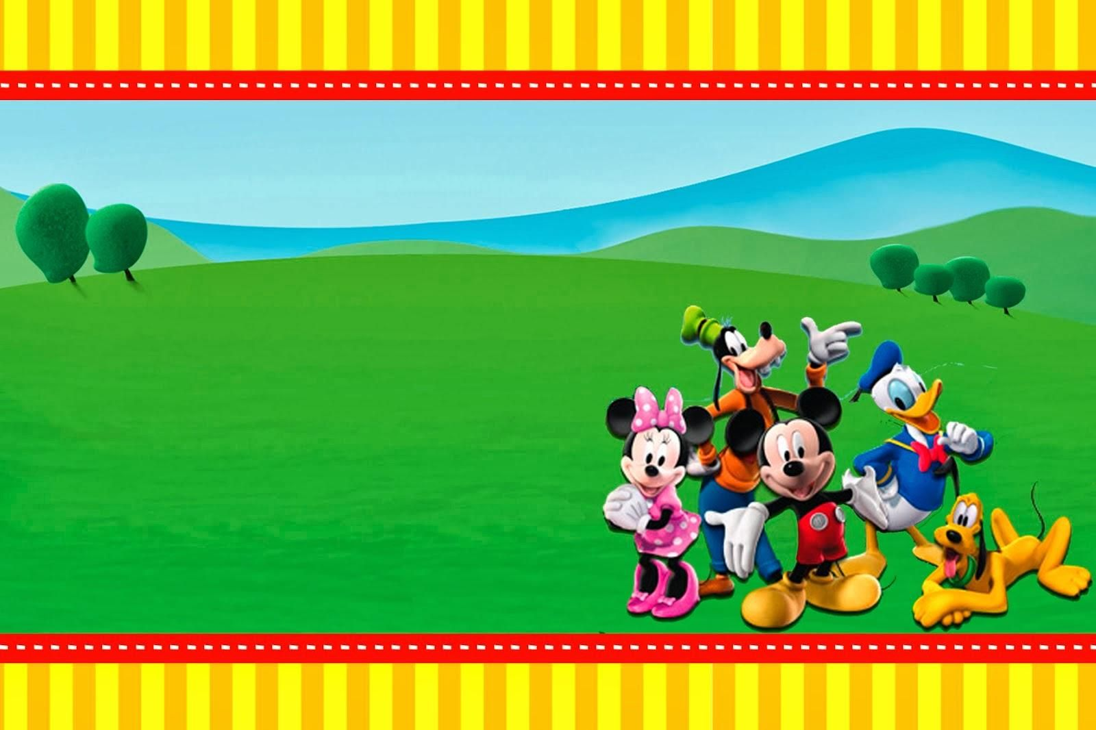 Mickey Mouse Clubhouse 1st Birthday Invitations Jpg 1600 1066