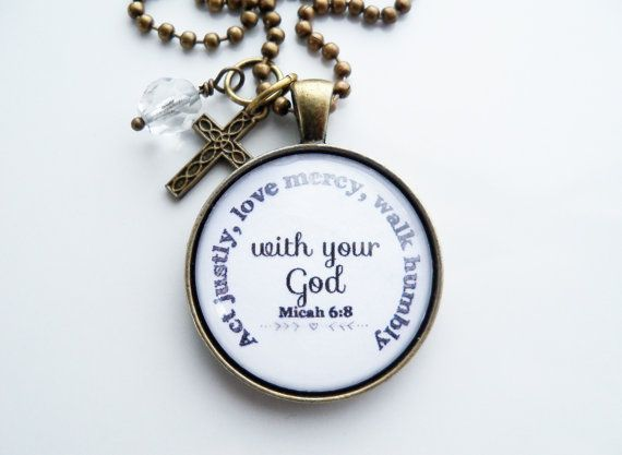 Act justly love mercy walk humbly pendant micah 68 necklace act justly love mercy walk humbly pendant micah 68 necklace inspirational christian jewelry scripture pendant bible verse pinterest negle Image collections