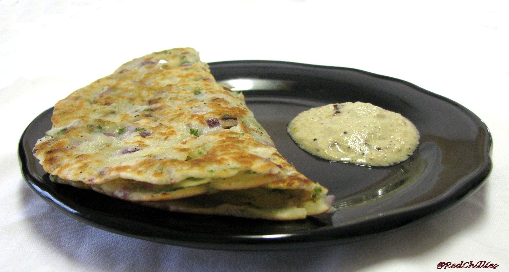 Veg Cake Recipe In Kannada: Akki Rotti / Thalipeeth And Coconut Chutney