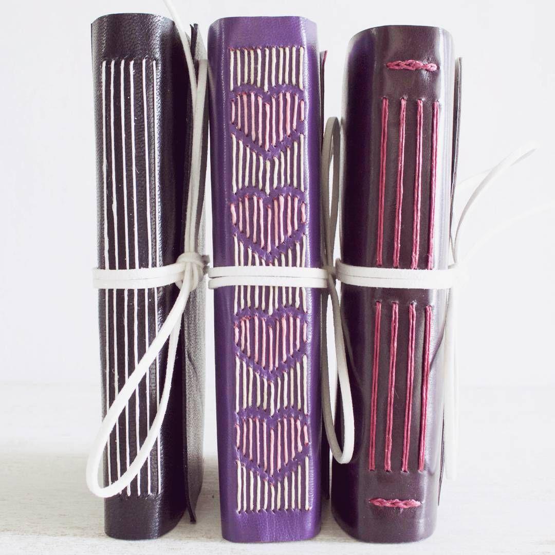 "156 Likes, 4 Comments - Dani Fox (@danifoxbookbinder) on Instagram: ""Leather journals  #bookbinding #handmade #bookarts #journal #album #sewing #notebook…"""