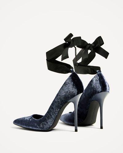 VELVET HIGH HEEL Schuhe View all Schuhe  Damenschuhe  Schuhe  ZARA United States ... 9c00f5