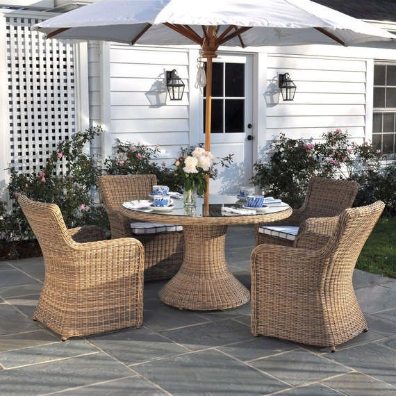 Kingsley Bate Sag Harbor Round Dining Table KingsleyBate - 52 inch round outdoor dining table
