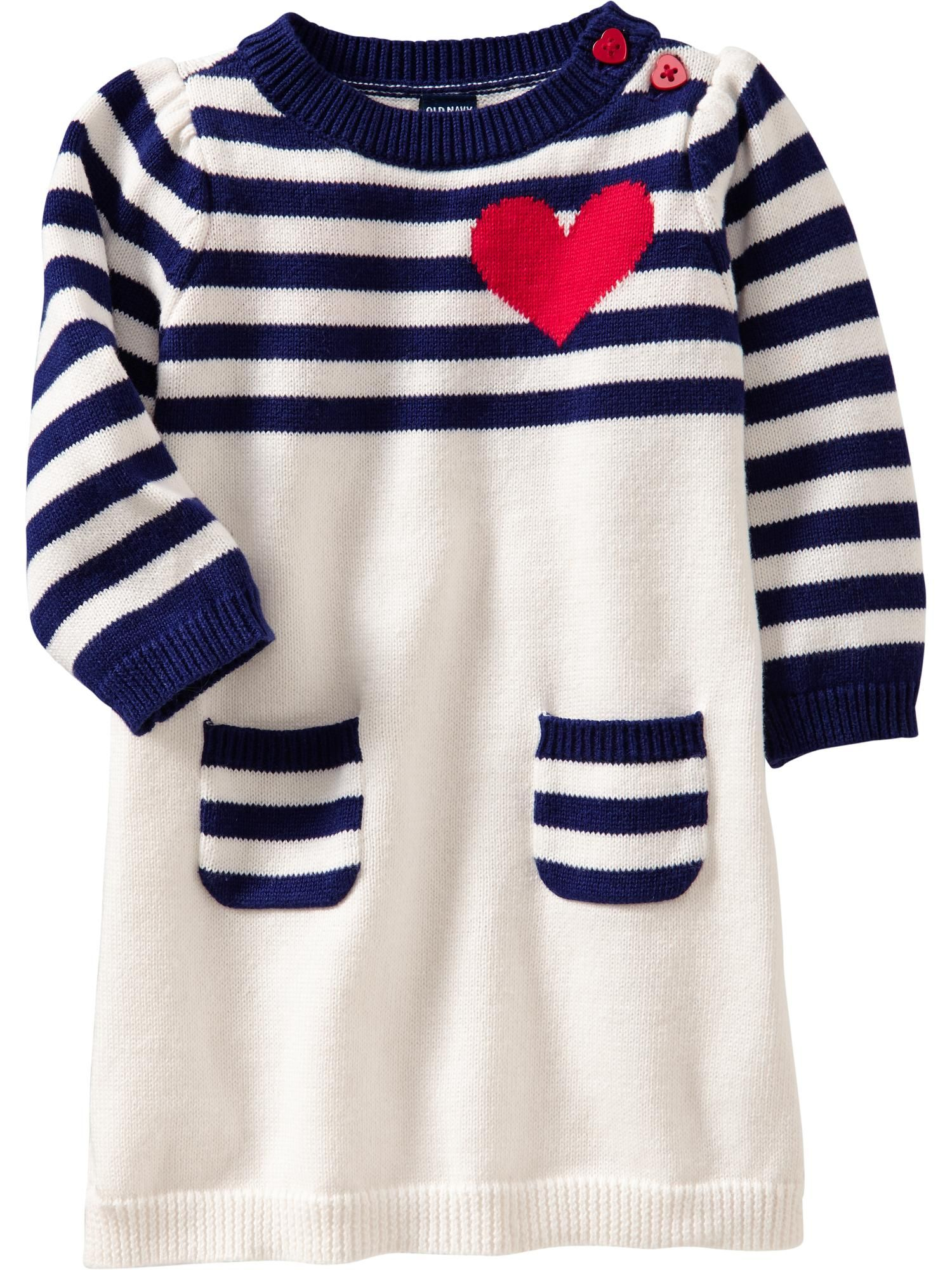 Old Navy Heart Graphic Sweater Dresses for Baby Baby