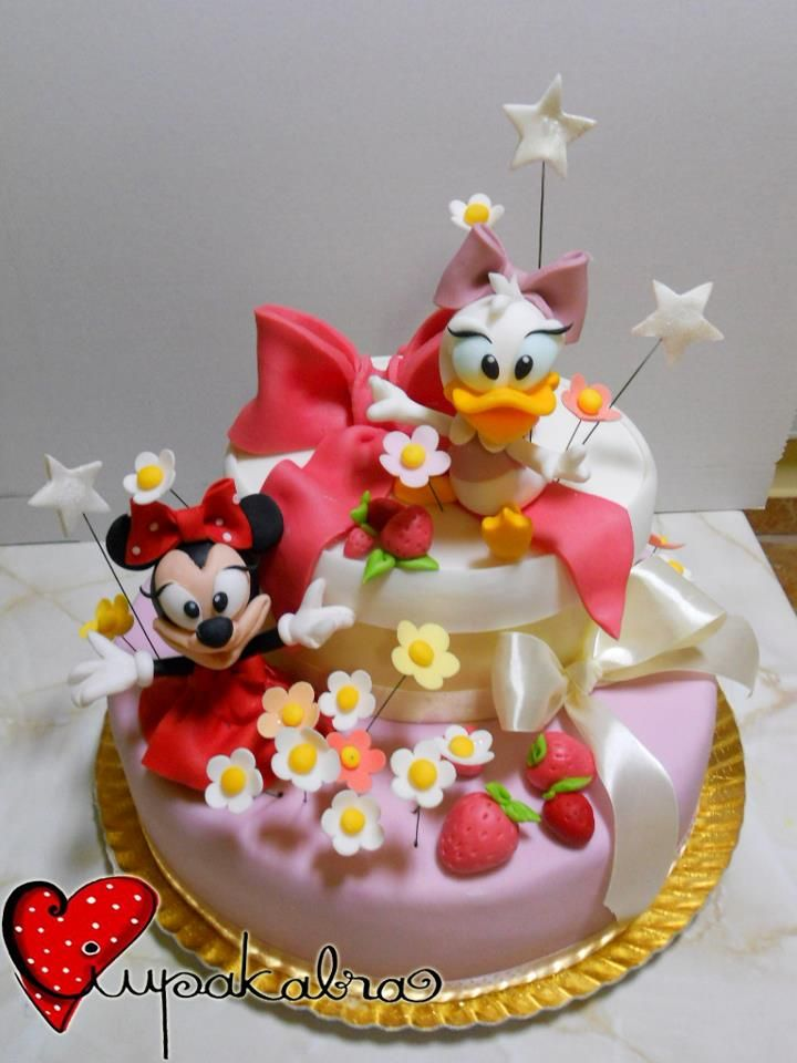 minnie and daisy cake by ciupakabra
